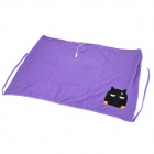 E-Warmer F3001-1 Cute Cartoon Cat Pattern USB IR Heated Warm Blanket - Purple