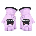 e-warmer USB Heated Half-fingers Warm Gloves for Ladies - Purple (Pair)