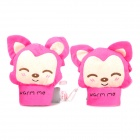 e-warmer Cute A Li Fox USB Heated Wrist Warm Gloves for Ladies - Pink (Pair)