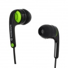 KDM-S11 Stereo In-Ear Earphone - Black + Green (3.5mm jack / 143cm)