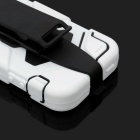 Protective Full Body Case w/ Clip for Iphone 5 - White + Black