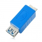 Super Speed USB 3.0 Micro B Male to AF Female Converter Adapter - Blue
