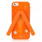 Cute Slippers Flip Flops Style Protective TPU Soft Back Case for iPhone 5 - Orange