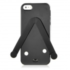 Cute Slippers Flip Flops Style Protective TPU Soft Back Case for iPhone 5 - Black