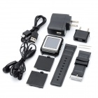 "AoKe 09 GSM Watch Phone w/ 1.4"" Resistive Screen, Triple-Band, Single-SIM and FM - Black"