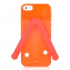 Cute Slippers Flip Flops Style Protective TPU Soft Back Case for Iphone 5 - Red