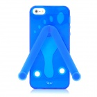 Cute Slippers Flip Flops Style Protective TPU Soft Back Case for iPhone 5 - Dark Blue