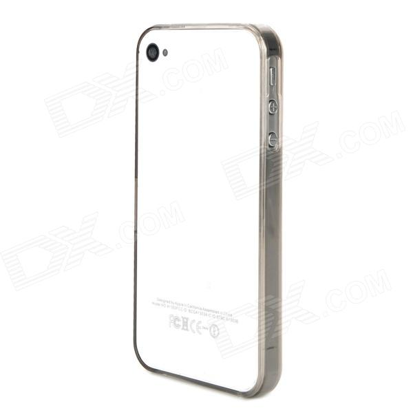 Protective ABS Bumper Frame for Iphone 4 / 4S - Transparent Grey