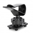 360 Degree Rotation Car Sunshade Board Mount GPS Holder - Black
