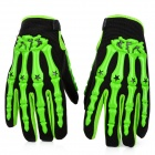 PRO-BIKER Skeleton Motorcycle Racing Gloves - Green + Black (Size L / Pair)