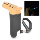R4710 Portable Adjustable Flame Butane Jet Torch Lighter - Black