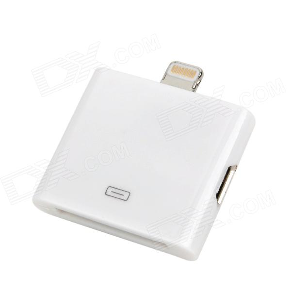 2-in-1 30pin / Micro USB to 8pin lightning Adapter for iPad Mini / iPod Touch 5 / iPhone 5 - White