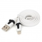 USB to 8-Pin Lightning Flat Charging Cable for Iphone 5 / Ipad MINI / Ipad 4 - White (103cm)
