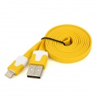 USB to 8-Pin Lightning Flat Charging Cable for iPhone 5 / iPad Mini / iPad 4 - Yellow (103cm) 