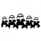 ZEA-C Fun Gangnam Style PSY Pattern Reflective Car Decoration Sticker - Black