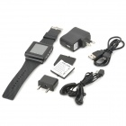 "AoKe 812 GSM Watch Phone w/ 1.5"" Resistive Screen, Triple-Band and Single-SIM - Black"