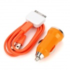 Car Charger + Micro USB Kabel + 30pin Adapter für iPhone4 / 4S / Samsung i9300 / Nokia N9 Set