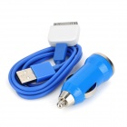 Car Charger + Micro-USB-Kabel + 30pin Adapter für iPhone4 / 4S / Samsung i9300 / Nokia N9 Set