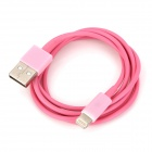 8-Pin Lightning Data / Charging Cable for iPhone 5 - Pink 