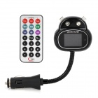 "Kitten Style 1.4"" LCD Car MP3 Player FM Transmitter w/ USB / SD / TF - Black + Silver (12~24V)"