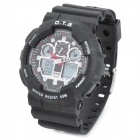 OTS 8007 Multi-functional Men's Rubber Band Digital Analog Sport Wristwatch w/ Calendar (1 x CR2025)