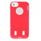 Robot Style Double Layer Protective PVC Hard Case for iPhone 5 - Red + White
