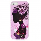 TEMEI Woman Figure Style Protective PC Back Case for Iphone 5 - Pink + Black