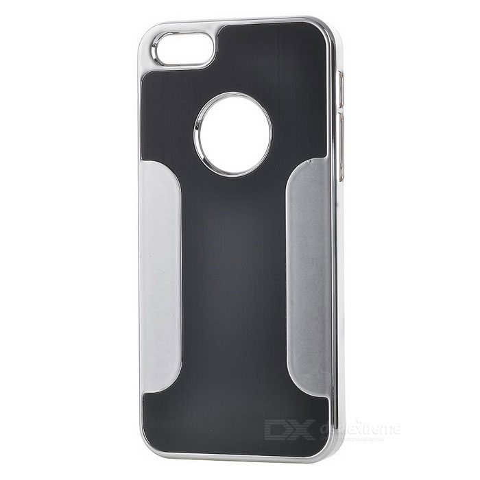Protective Aluminum Alloy Back Case for Iphone 5 - Black + White