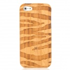 Wood Grain Style Protective Detachable Wooden Back Case for Iphone 5 - Light Brown