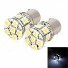 1156 2W 130lm 13-SMD 5050 LED White Car Running / Steering Light - Silver + White (2 PCS)