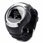 "PG66 Old Senior Kids GSM Watch Phone w/ 1.3"" Resistive Screen, Quad-Band and GPS Tracking - Silver"