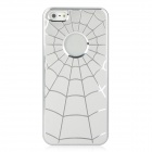 PIN-C-9 Cobweb Pattern Protective Brushed Aluminum Alloy Hard Back Case for Iphone 5 - Silver