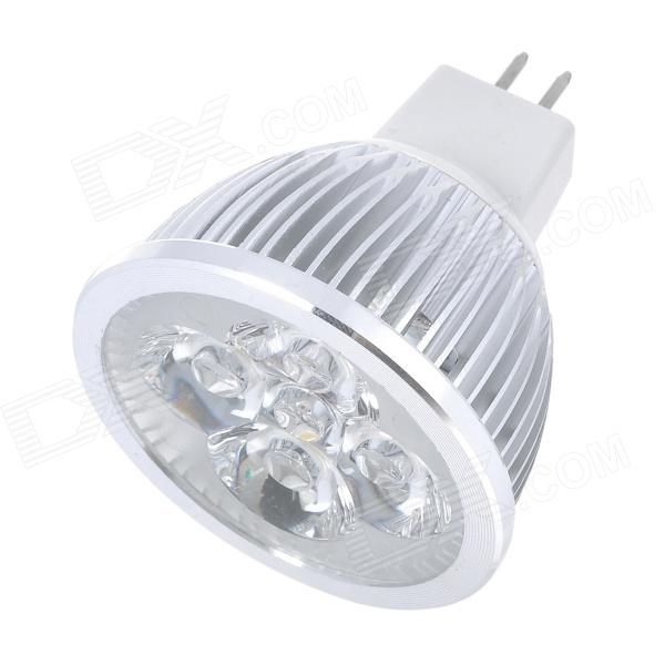 GX5.3 4W 400LM 3500K Warm White Light 4-LED Cup Bulb (12V)