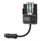 "1.4"" LCD Car MP3 Player w/ R/C / FM Transmitter / Expansion Card Slot - Black + White (1 x CR1220)"