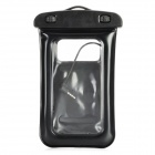 Waterproof Dry Plastic Case Bag w/ Earphones + Armband + Strap for Iphone 5 - Black