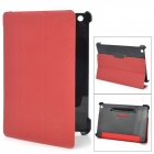 Protective PU Leather + Plastic Case for Ipad MINI - Red