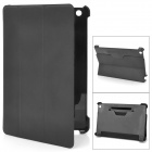 Protective PU Leather + PC Case for iPad Mini - Black