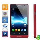 "ST27i Android 2.3 GSM Bar Phone w/ 4.0"" Capacitive Screen, Quad-Band, Wi-Fi and Dual-SIM - Red"