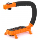 C-Shape Mount Holder for DSLR / Camcorder DV - Orange + Black