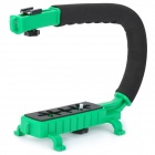 C-Shape Mount Holder for DSLR / Camcorder DV - Green + Black
