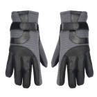 Outdoor Cycling Full Fingers Anti-Slip Hands Warmer Gloves - Black + Grey (Pair / XL-Size)