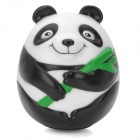 GJ977 Cute Panda Style Roly-Poly Toy - Black + White + Green