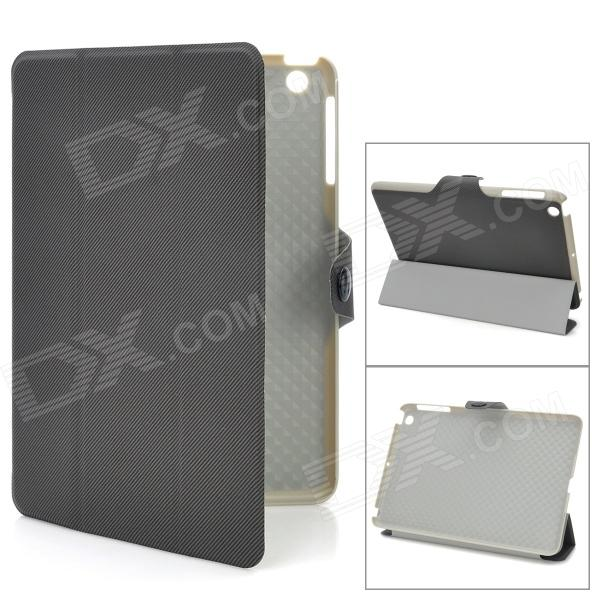 Stylish Oblique Grain Protective PU Leather Case for iPad Mini - Dark Grey