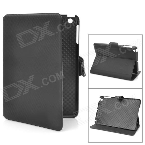 Stylish Protective PU Leather Case w/ Card Holder for Ipad MINI - Black stylish protective pu leather case w card holder slots for google nexus 7 ii black