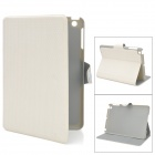 Basketball Grain Protective PU Leather Case for Ipad MINI - White