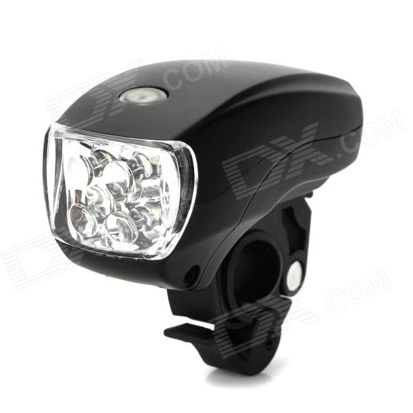 XC-761 5-LED 3-Mode White Light Bicycle Headlight - Black (3 x AAA) th 2013 decorative flexible led 4 mode colorful light strip for bicycle white black 3 x aaa