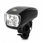 XC-761 5-LED 3-Mode White Light Bicycle Headlight - Black (3 x AAA)