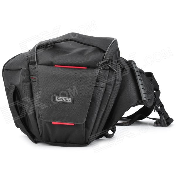 CADEN K3 Protective Water Resistant Nylon Fabric Shoulder Bag for DSLR / Professional Camera - Black