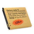 "Replacement 3.7V ""4200mAh"" Rechargeable Battery for Samsung Galaxy Note II N7100 - Golden"