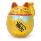 GJ996 Cute Money Cat Style Roly-Poly Toy - Golden